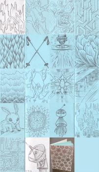 Mini sketchbook - Snowflakes