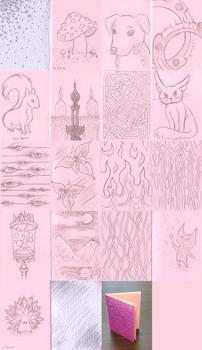 Mini sketchbook - Pink shiny