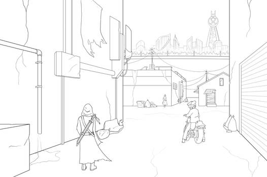 Dystopia - Lineart