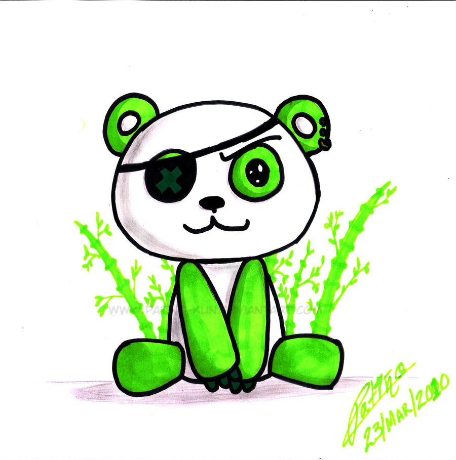 Green Panda by Yei-Pi on DeviantArt  Green Panda by ...