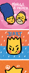The Simpsons by Yei-Pi