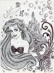 Monochrome Princess Ariel