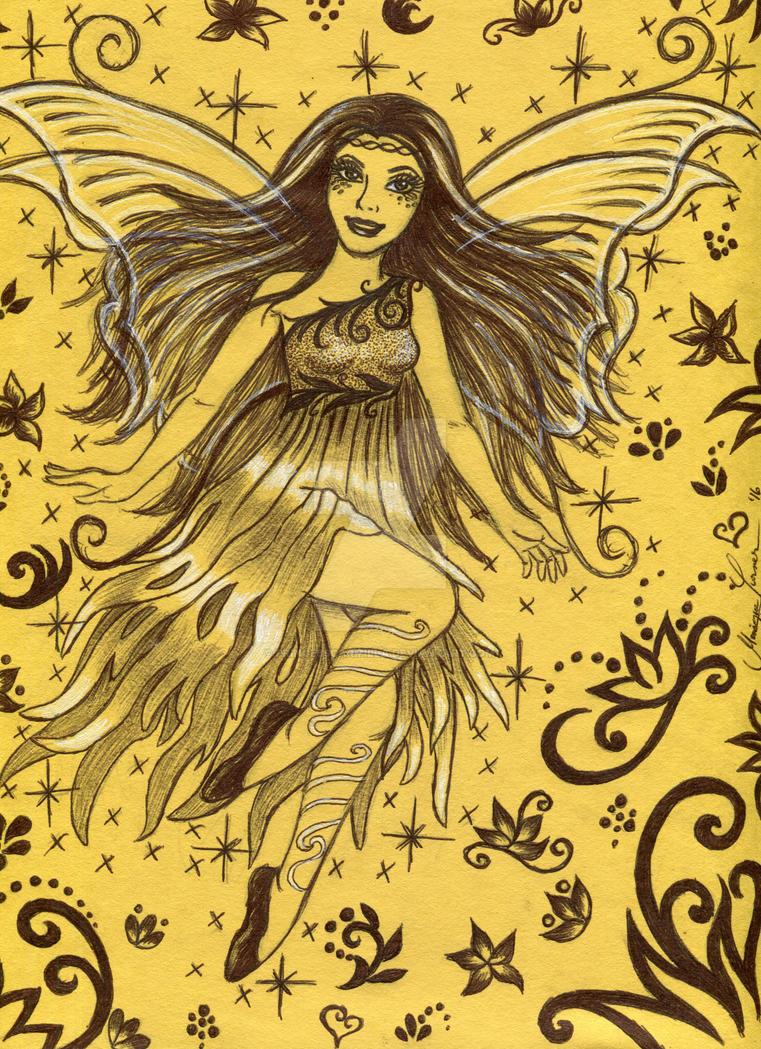 Yellow Fantasy Fairy by PrinceSsCarmilla