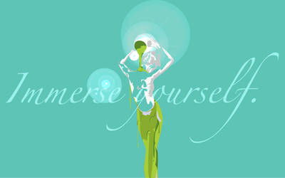 Paint Dress Desktop Teal