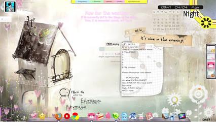 1st Rainmeter Desktop