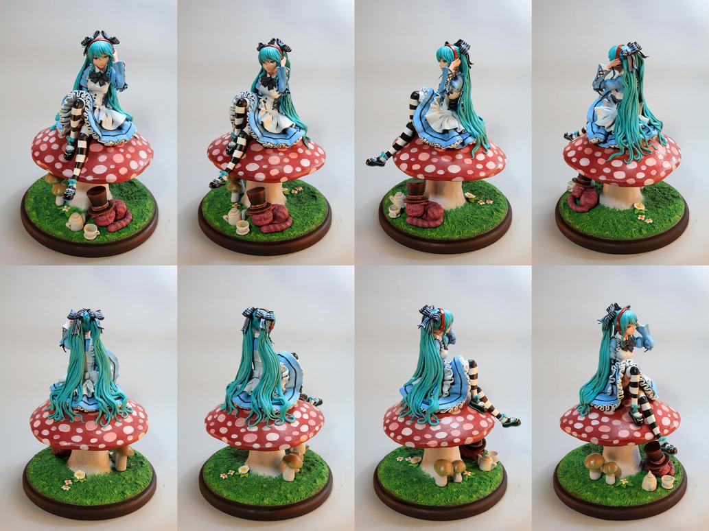 Miku in Wonderland by HairyAsHell