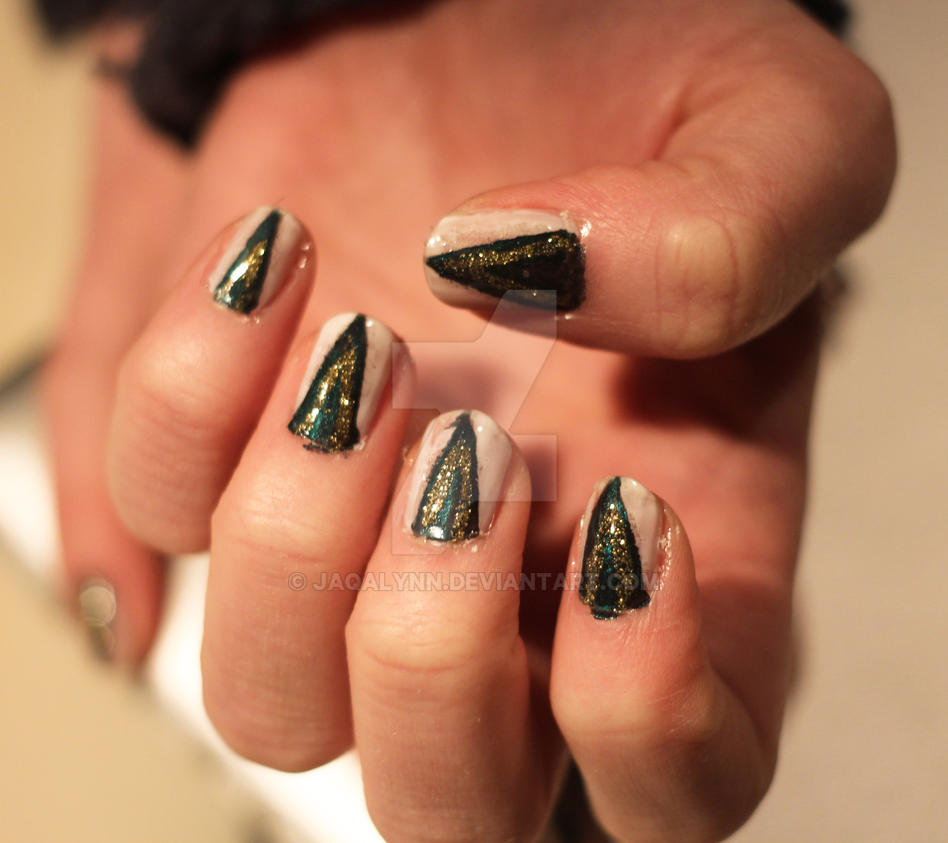 Evanora the wicked witch nails by Jaqalynn on DeviantArt