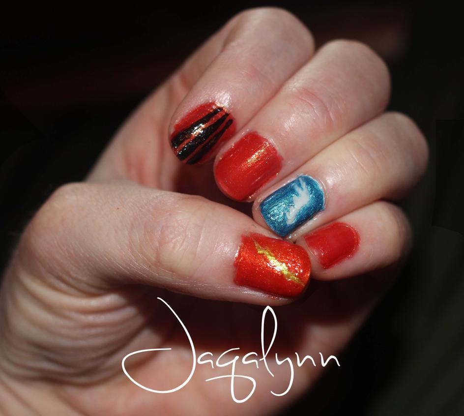 Disney\'s Hercules- inspired nails by Jaqalynn on DeviantArt