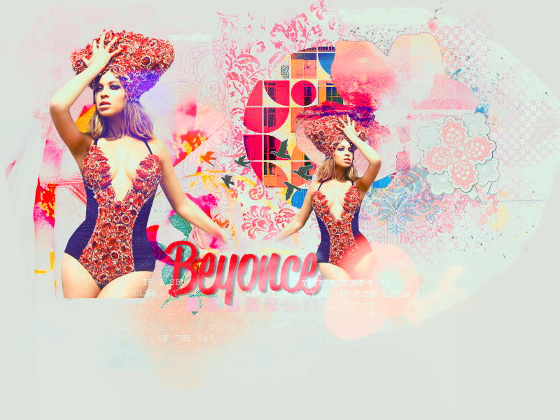 Beyonce Layout by retroaffair