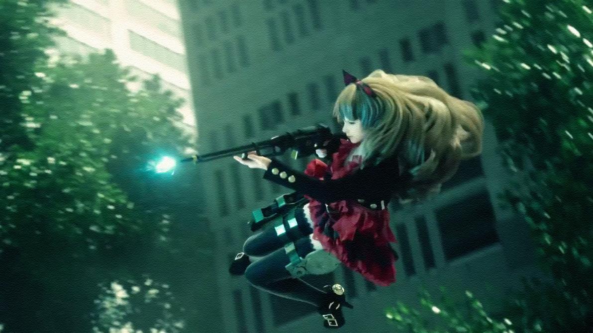 Gunslinger Stratos Reloaded - Akane Kuroe by Vayne1510