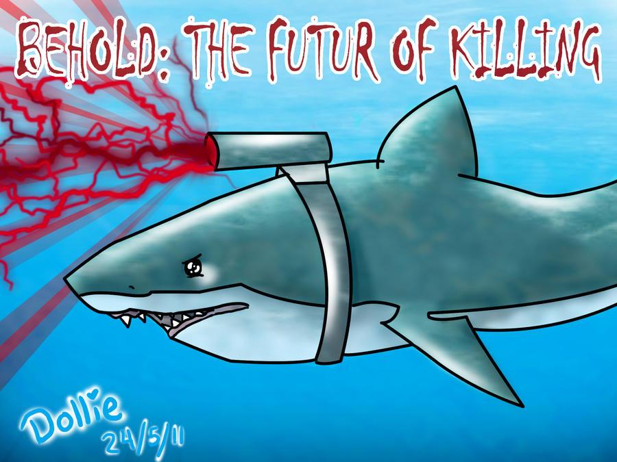 Lazer shark by dollieloveheart
