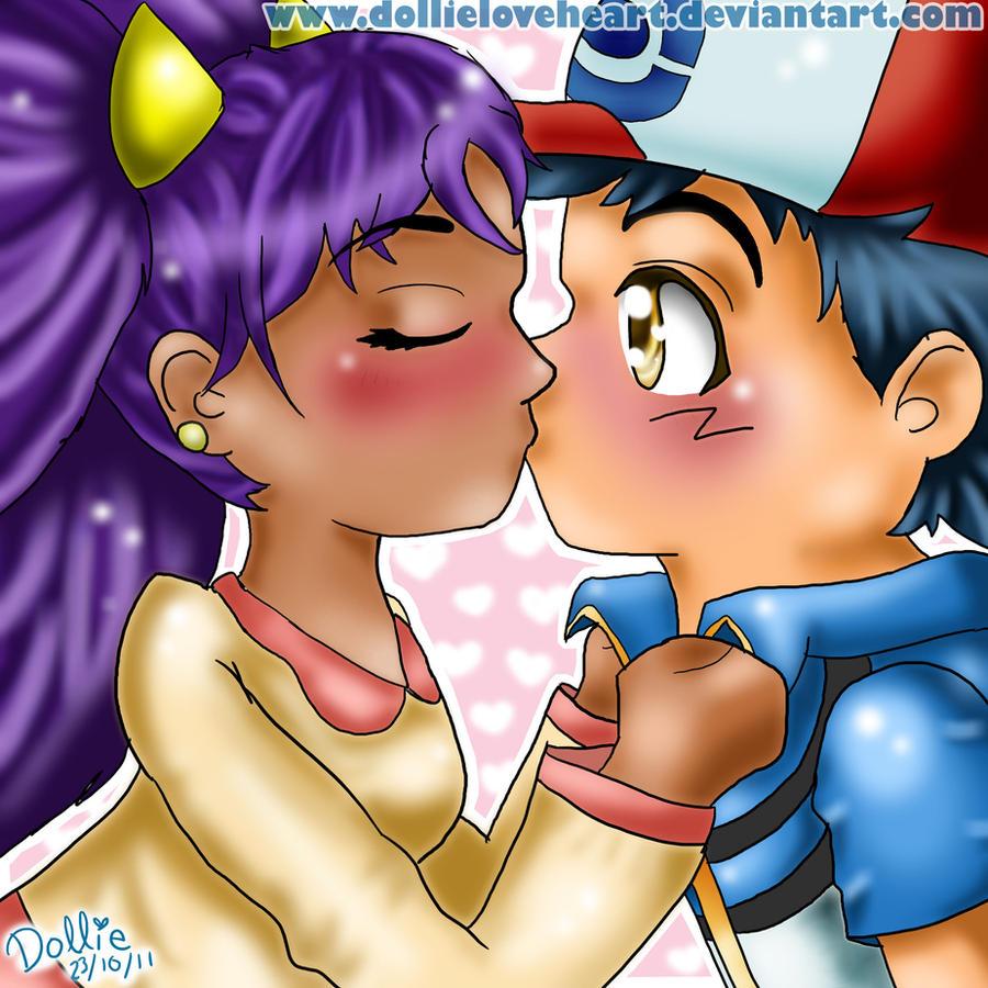 Ash and Iris Kiss