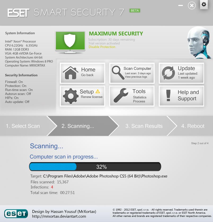 بوابة بدر: حصريا عملاق الحماية ESET NOD32 & Smart 7.0.28.0 Beta,2013 eset_smart_security_