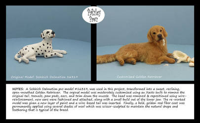Customized plastic dog model with wooly coat by PaizleyPawz