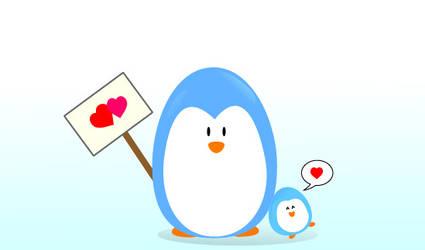 Pinguin love by KisserMousebane