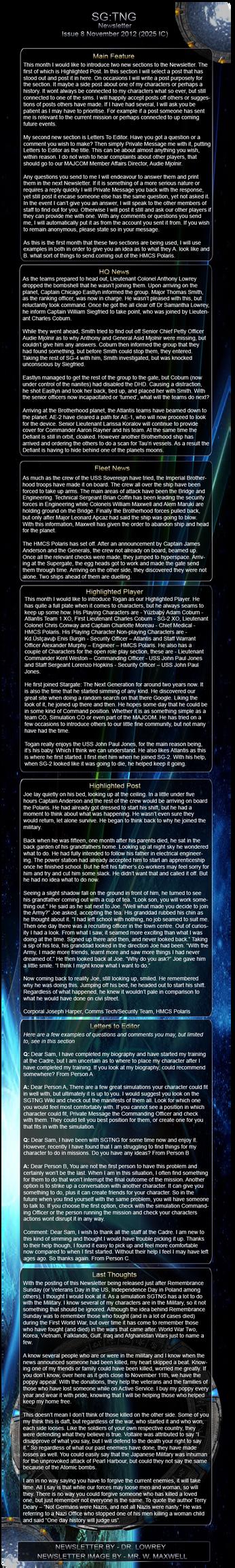 Newsletter-ISSUE8 by BlazeBlack