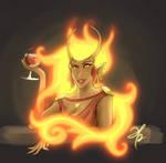 Fancy Fire Lady