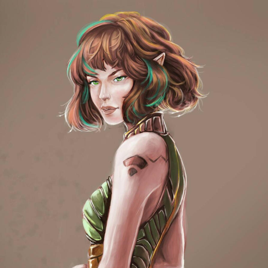 Female elf by nopic