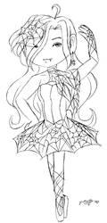 Chibi Vampire Ballerina by VickyViolet