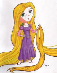 Rapunzel standard chibi by VickyViolet