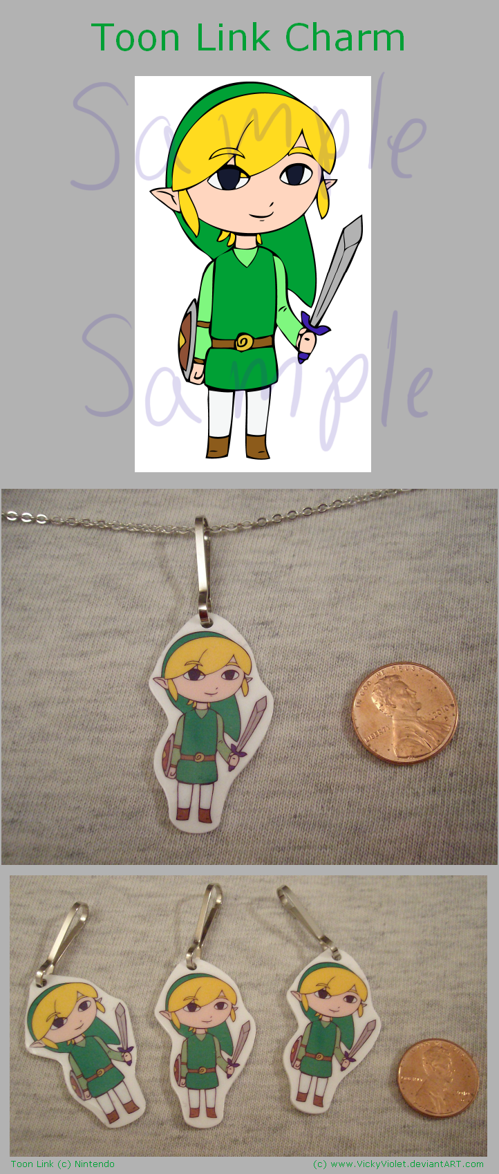Toon Link Charm by VickyViolet