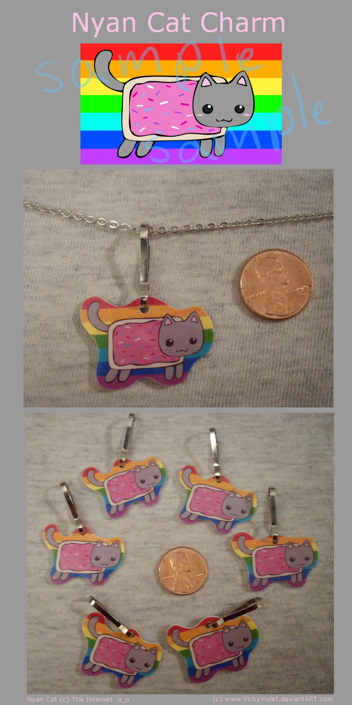 Nyan Cat Charm by VickyViolet