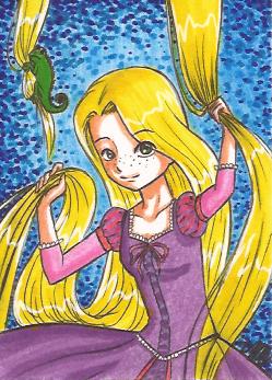 Art Card 01 - Rapunzel by VickyViolet