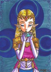 Art Card 02 - Zelda OoT by VickyViolet