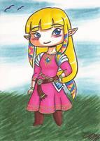 Art Card 04 - Zelda SS by VickyViolet