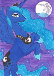 Art Card 17 - Princess Luna by VickyViolet