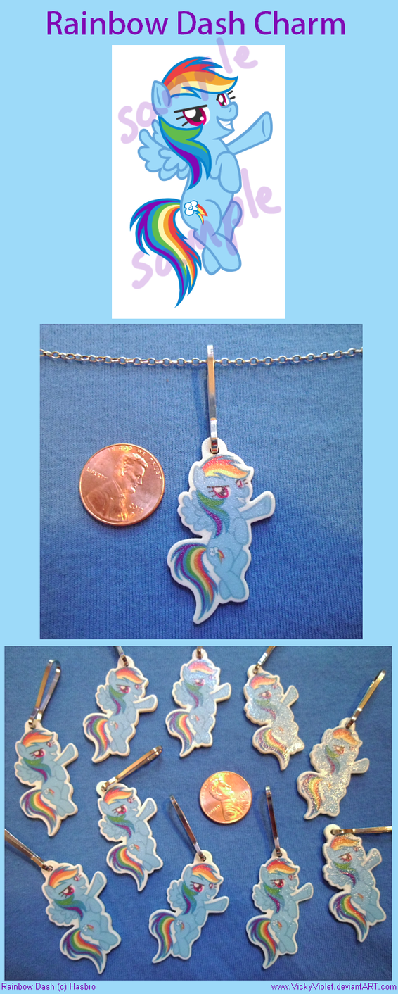 Rainbow Dash Charm by VickyViolet