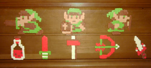 ''Don't Make Me Go Zelda On You'' Perler Set by VickyViolet