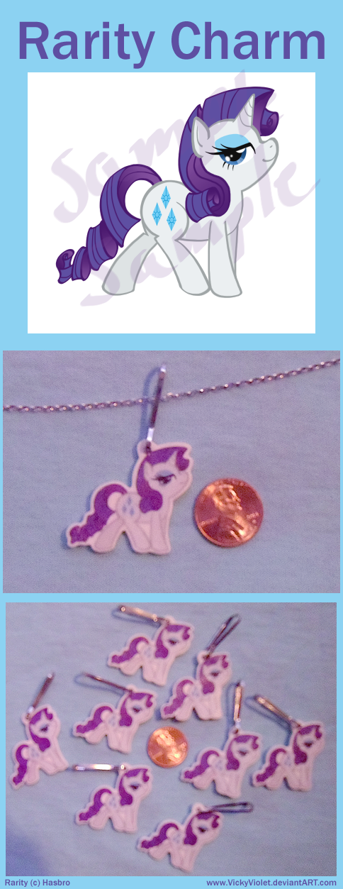 Rarity Charm by VickyViolet