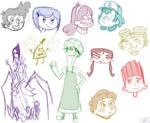 Mystery Kids Sketch Dump