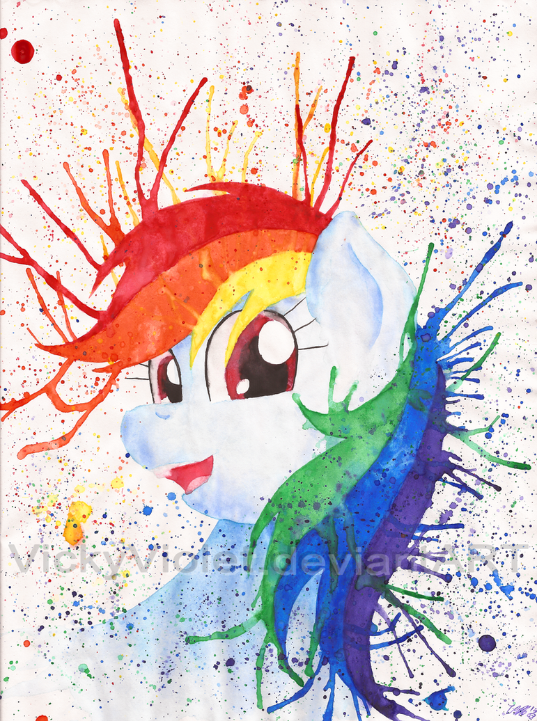 Rainbow Splash by VickyViolet