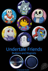 Undertale Friends Set by VickyViolet