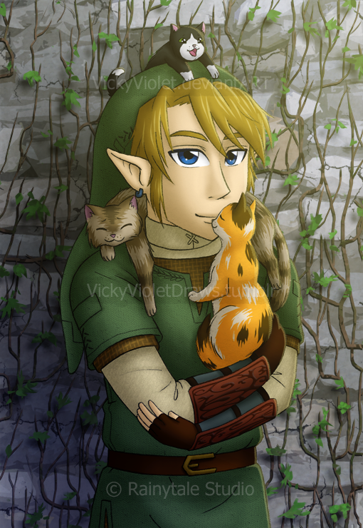 Link with Cats by VickyViolet