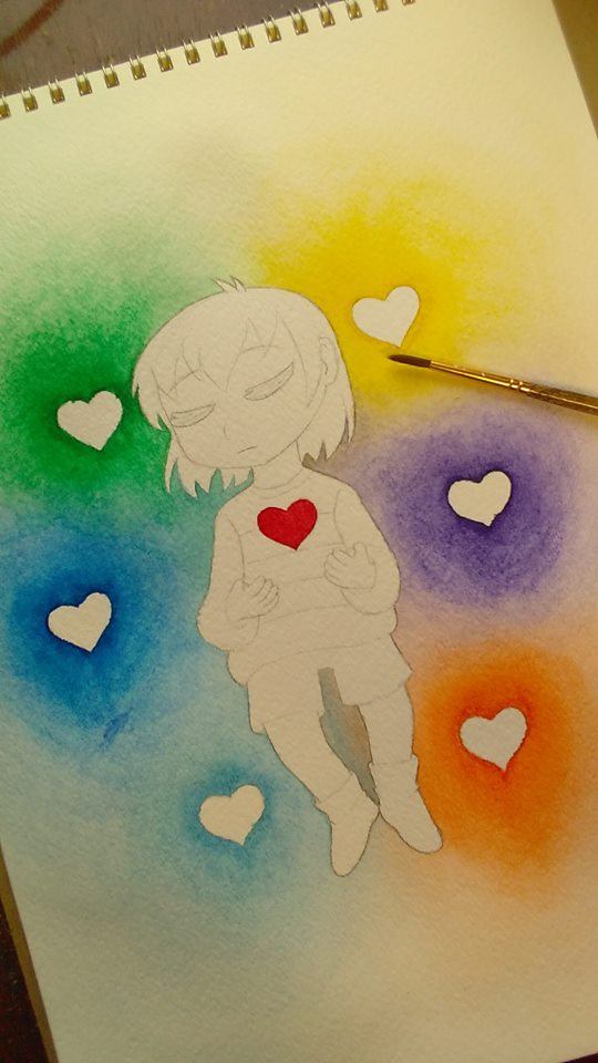 Watercolor WIP by VickyViolet