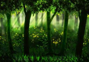 Forest Study by VickyViolet