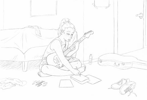 Teya Composing Music