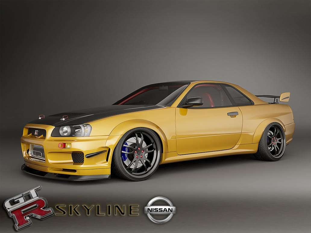 custom nissan skyline gtr r34 car interior design. Black Bedroom Furniture Sets. Home Design Ideas
