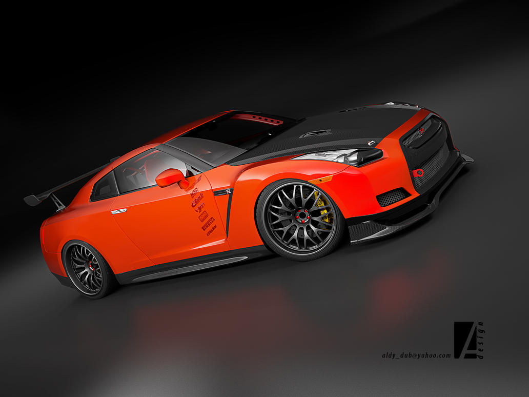 GTR R35 street tuned version by 3dmanipulasi