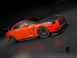 GTR R35 street tuned version by 3dmanipulasi