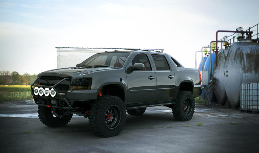 Chevy Avalanche (off road) outdoor by 3dmanipulasi