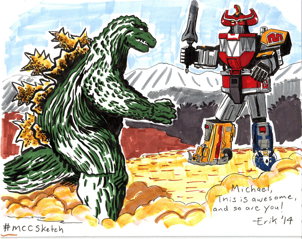 Godzilla vs. Megazord by IllustratorErik