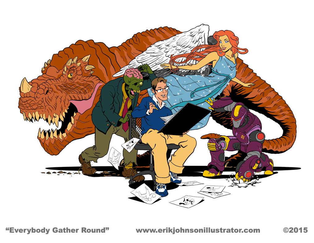 Everybody Gather Round by IllustratorErik