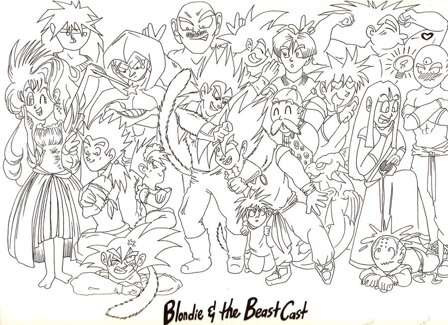 Blondie and the Beast cast by KrazyKat001