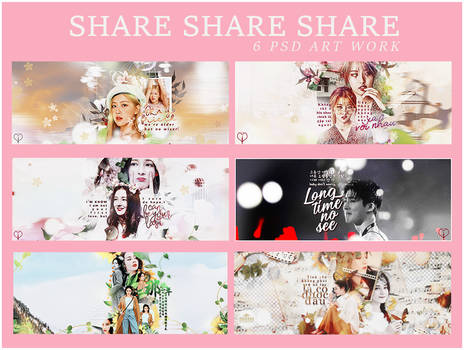 PACK SHARE 6 PSD ARTWORK