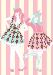 Tea Party Argyle Illustration by decora-rockstar