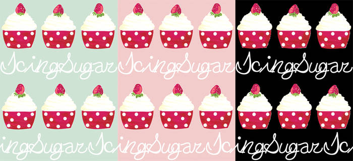 Sweet Cupcake Logo Print by decora-rockstar